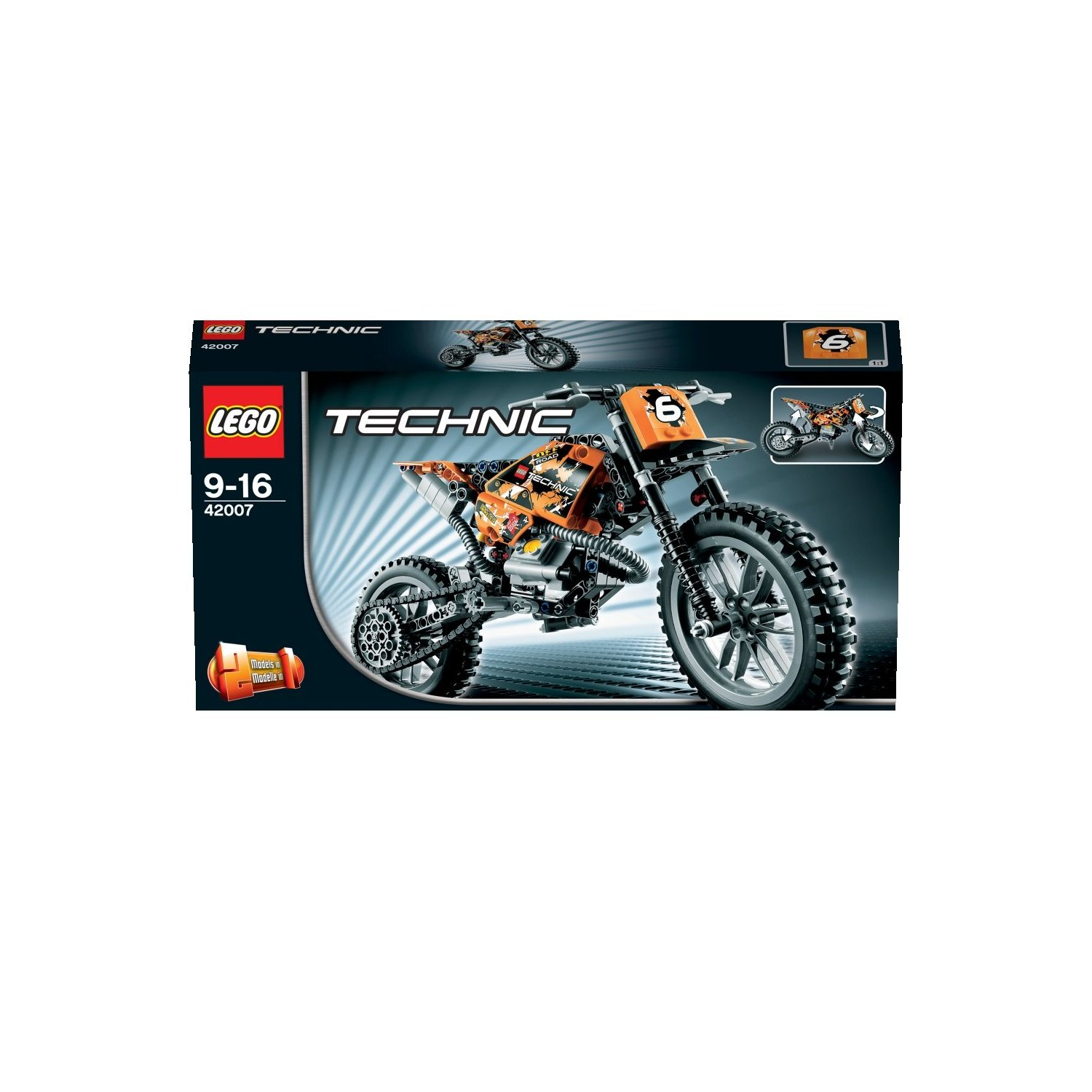 Playfactory technic 42007 la moto cross lego - Jeux de construction lego technic ...