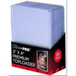 "Protèges Cartes Standard  Toploader Transparent Super Clear Premium 3""x4"" Par 25"