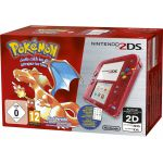 Cartes à Code Pokémon Nintendo 2ds Rouge Transparent + Pokémon Rouge Préinstallé