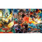 Tapis de Jeu CardFight Vanguard Tapis - CardFight Vanguard : G-chb02 - Omniscience Dragon, Fernyiges, State Affair Subjugation Deity, Kamususanoo et Great Galactic Governor, Commander Laurel D
