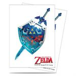 Protèges Cartes The Legend of Zelda Sleeves Standard Par 65 - Sword & Shield (Bouclier & Épée)