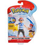 Figurine Pokémon Battle Feature Figure - Sacha - Pikachu