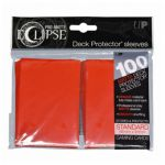 Protèges Cartes Standard  Sleeves Ultra-pro Standard Par 100 Eclipse Rouge Matte