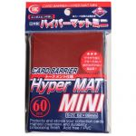 Protèges Cartes Format JAP  Kmc - Mini Red Hyper Mat (Rouge & Matte par 60)