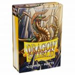 Protèges Cartes Format JAP Yu-Gi-Oh! Sleeves Dragon Shield Mini Copper (Cuivre) Matte - par 60