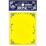 Protèges Cartes Standard  Kmc - Standard Sleeves - Metal Rose - Jaune - par 50