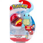 Figurine Pokémon Pop Action - Peluche Carapuce + Poké Ball
