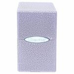 Deck Box  Satin Tower Deck Box Ivory Crackle