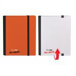 Portfolios  Pro-binder - Bi-couleur - Blanc & Rouge - 160 Cases (20 Pages De 8 Cases)