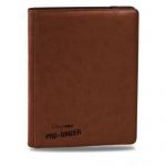 Portfolios Accessoires Premium Pro-binder - Simili Cuir Marron -  360 Cases (20 Pages De 18)
