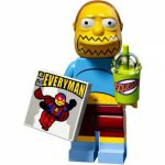 Minifigures The Simpsons 2.0 LEGO - 07 - Jeff Albertson, Le Vendeur De B.d.