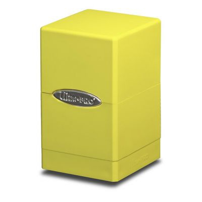 Boites de Rangement Satin Tower Deck Box Jaune Fluo