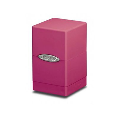 Boites de Rangement Satin Tower Deck Box Rose Bonbon