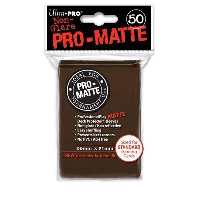 Protèges Cartes Sleeves Ultra-pro Standard Par 50 Marron Matte