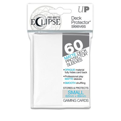 Protèges Cartes Format JAP Sleeves Ultra-pro Mini Par 60 Eclipse Matte Blanc