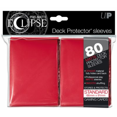 Protèges Cartes Sleeves Ultra-pro Standard Par 80 Eclipse Rouge Matte