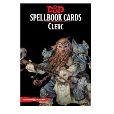 Aventure Dungeons & Dragons ® Spellbook Cards - Cartes de Sorts - Clerc