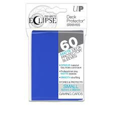 Protèges Cartes Format JAP Sleeves Ultra-pro Mini Par 60 Eclipse Matte Bleu Roi