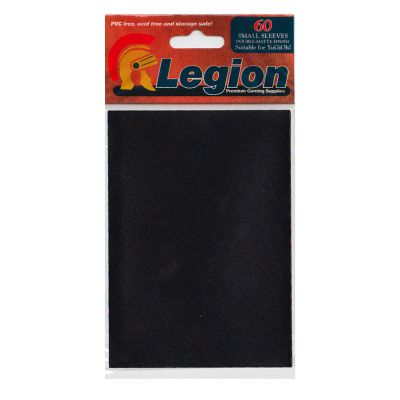 Protèges Cartes Format JAP Legion - Sleeves Mini Par 60 Matte - Noir