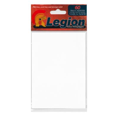 Protèges Cartes Format JAP Legion - Sleeves Mini Par 60 Matte - Blanc
