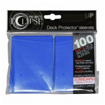 Protèges Cartes Sleeves Ultra-pro Standard Par 100 Eclipse Bleu Roi Matte
