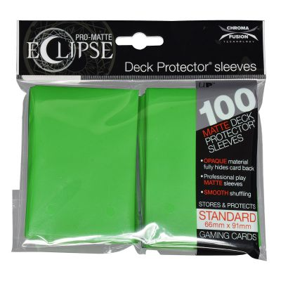 Protèges Cartes Sleeves Ultra-pro Standard Par 100 Eclipse Vert Clair Matte