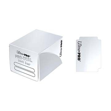 Boites de Rangement Pro-dual Small Deck Box - Blanc (120 cartes)