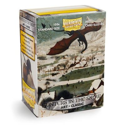 Protèges Cartes Sleeves Dragon Shield Standard Hunters in the Snow - par 100