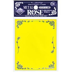 Protèges Cartes Kmc - Standard Sleeves - Metal Rose - Jaune - par 50