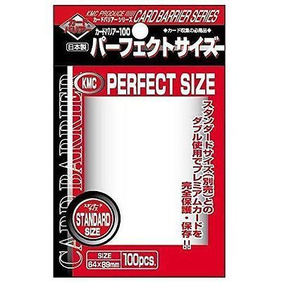 Protèges Cartes Kmc - Standard - Perfect Size (100 Sleeves) - Pro-Fit
