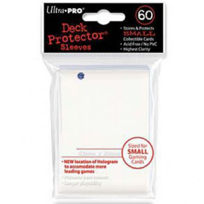 Protèges Cartes Format JAP Sleeves Ultra-pro Mini Par 60 Blanc