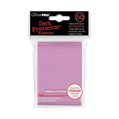 Protèges Cartes Sleeves Ultra-pro Standard Par 50 Rose