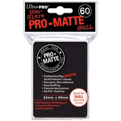 Protèges Cartes Format JAP Sleeves Ultra-pro Mini Par 60 Noir Matte