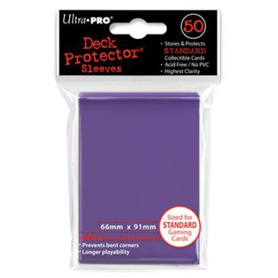 Protèges Cartes Sleeves Ultra-pro Standard Par 50 Violet
