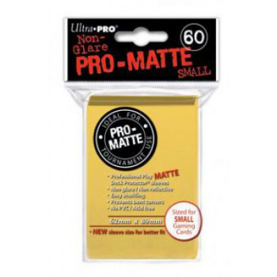 Protèges Cartes Format JAP Sleeves Ultra-pro Mini Par 60 Jaune Matte