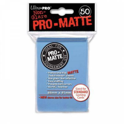 Protèges Cartes Sleeves Ultra-pro Standard Par 50 Bleu Mc Matte